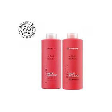 Kit Wella Professionals Invigo Color Brilliance Shampoo 1000ml + Condicionador 1000ml (2 Produtos)