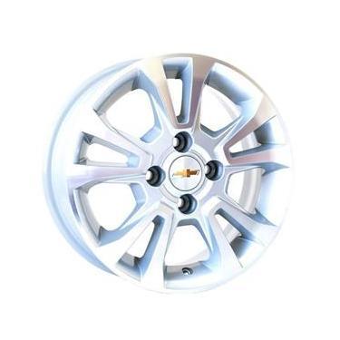 Jogo de Rodas Chevrolet Onix Ltz Aro 14 x 6,0 4x100 ET39 R42 Prata Diamantado