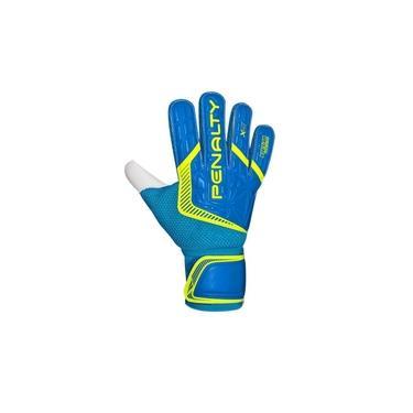 Luva De Goleiro Penalty Delta Training Azul E Amarelo Tamanho 9