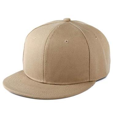 Beerty Boné Baseabll, boné de beisebol estilo moda de verão, cor lisa, aba larga, ajustável, boné de caminhoneiro para mulheres e homens, Caqui, 55cm-65cm(21.65inch-25.59inch)