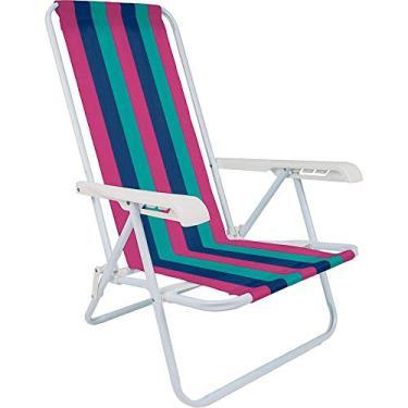 Cadeira de Praia em Aço 4 Posições Cores Sortidas - Mor