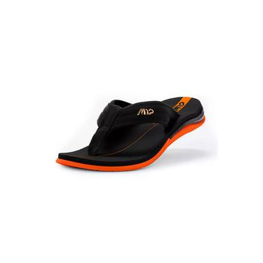 Chinelo Sandália Kenner Action Gel M12 Preto / Laranja