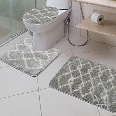 Imagem de Jogo de Tapetes para Banheiro 3 Peças Jolitex Absolut Art