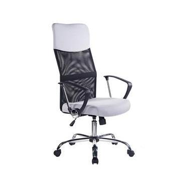 b343fd26ec Cadeira Presidente Sidney Preta E Branca