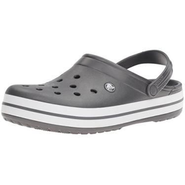 Sandália, Crocs, Crocband, Graphite/White, 39, Adulto Unissex