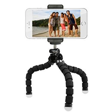 Tripé Flexível Articulado Suporte Celular Selfie (Preto/Vermelho/Azul)