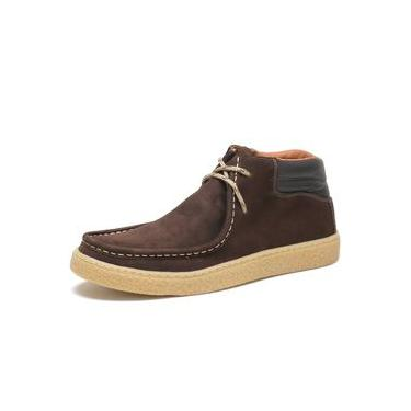 Bota Casual Masculino Free Jump Em Couro Nobuck Sola Crepe Palmilha Confort Gel - Cr03