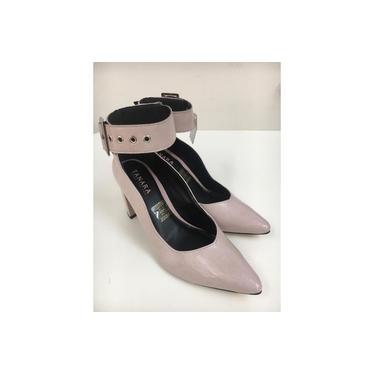 Sapato Fem. Scarpin Tanara Kai Verniz Sepia - T3182-0001