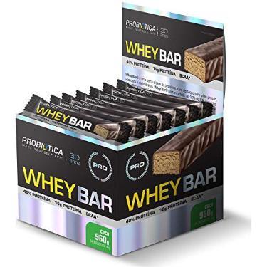 Whey Bar (Caixa 24 Barras) - Probiotica Sabor Coco