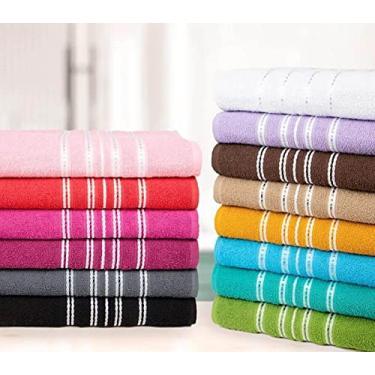 Imagem de Kit 6 Toalhas Banhão Alta Absorção 100% Algodão - Princesa (Cores Variadas)