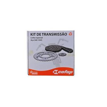 Kit Relação Transmissão Cofap - Corrente Coroa E Pinhão Aço 1045 - Honda Cg Titan Fan Cargo 150 De 2004 Ate 2015