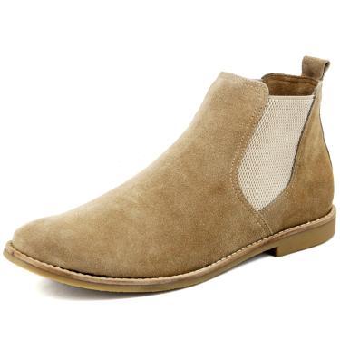 Bota Chelsea boots Escrete Elástico Areia  masculino