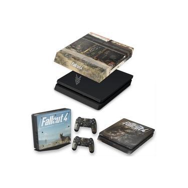 Capa Anti Poeira e Skin para PS4 Slim - Fallout 4