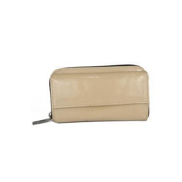 Carteira de Couro Legítimo Eliete Creme Absolut Leather