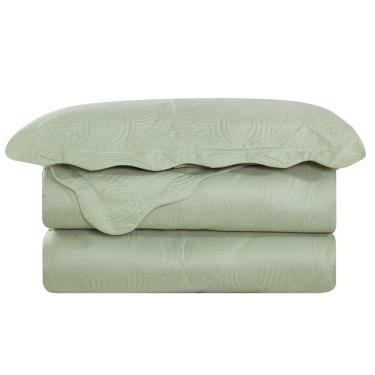 0ae37d5081 Colcha Casal Trapunto Com 2 Porta Travesseiros Verde Camesa