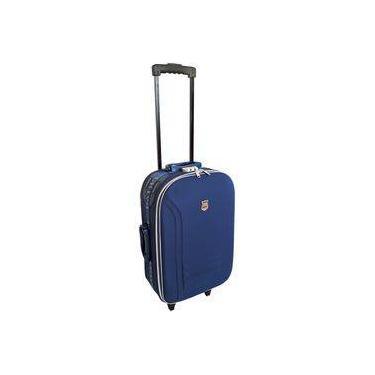 Mala De Viagem Pequena Rodinhas E Cadeado Batiki Azul Btk65-1