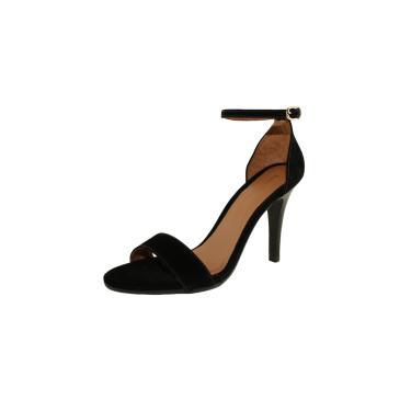 Sandália Salto Fino Luiza Sobreira Nobuck Preto Mod. 510  feminino