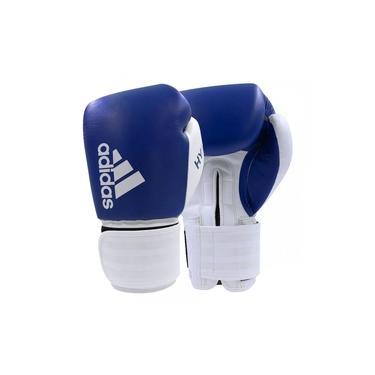Luva de Boxe Muay Thai Adidas Hybrid 200 Azul/Branco
