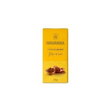 Barra Chocolate Ao Leite Havanna Com Recheio Doce De Leite
