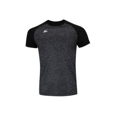87504af1a1 Camiseta Kappa Grain - Masculina - PRETO CINZA ESC Kappa