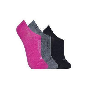KIT com 3 meias feminina Lupo soquete ref.3271 - 089/920