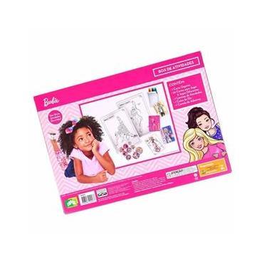 Imagem de Box de Atividades - Barbie - Kit com Jogos - Cartas - Adesivos - Giz de Cera - Copag