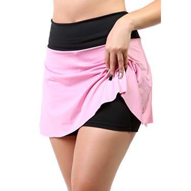 Short Saia Fitness Feminino (Rosa, G)