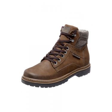 Bota Coturno em Couro Mega Boots Marrom  masculino