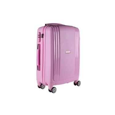 Imagem de Malas de Bordo Pequena para Viagem em POLIPROPILENO Yins 21074 Cadeado Integrado Rodas Duplas Rosa