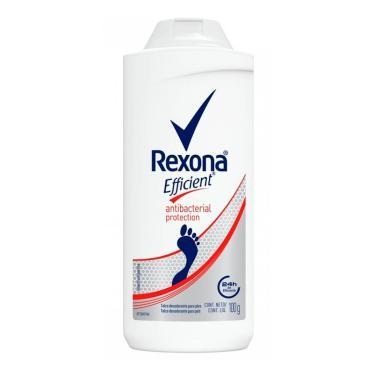 Talco Desodorante Para Pés Rexona Efficient Antibacterial 100g