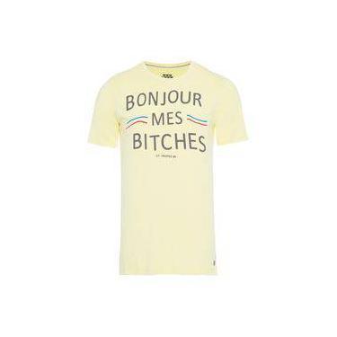 Camiseta masculina boujour - amarelo - sergio k 288bd732bb461