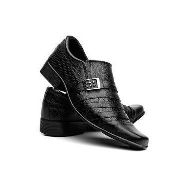 Sapatos Social Masculino Em Couro Fran Garcia Fivela Preto d3cd14f9068