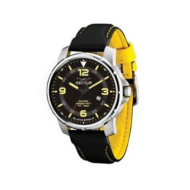4f9c4bb5624 Relógio Masculino Analógico Sector WS20127Y - Preto Amarelo