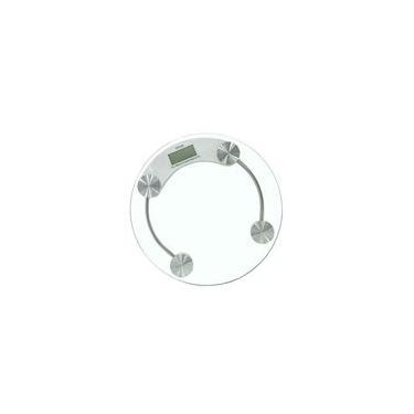 Balanca Digital Vidro Temperado Para Banheiro Redonda Capacidade 180 Kg