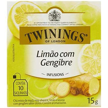 Chá Misto de Limão e Gengibre Twinings com 10 Saquinhos