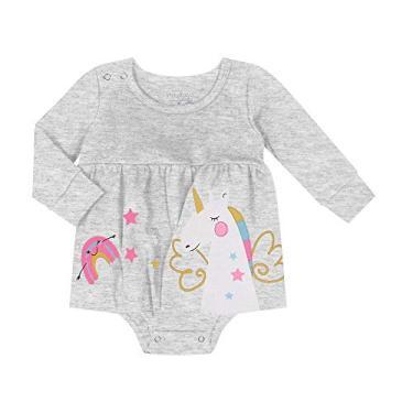 Vestido Infantil Feminino Rovitex Kids Cinza G