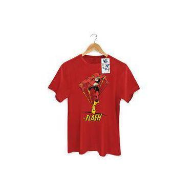 b413baae5 Camiseta Masculina Dc Comics The Flash The Flash Em Ação