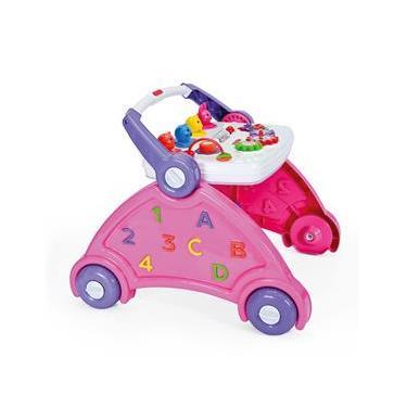 Andador Didático Infantil com Som de Animais 6167 Rosa