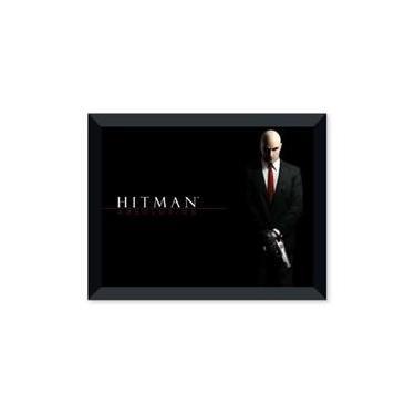 Poster de Hitman Absolution Com Moldura - Preto