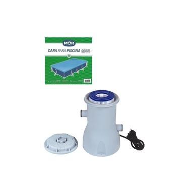 Kit Capa + Filtro Bomba 2.200 L/h Para Piscina Premium 5000 Litros - Mor