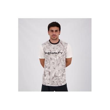 Camiseta Penalty Geometric X Branca e Cinza