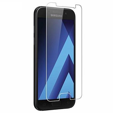 Película de Vidro, Cell Case, Smartphone Samsung Galaxy A7 2017 A720, Película Protetora de Tela para Celular, Transparente