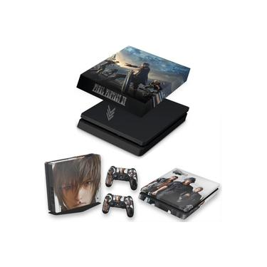 Capa Anti Poeira e Skin para PS4 Slim - Final Fantasy Xv #B