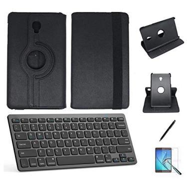 "Kit Capa/Teclado/Can/Pel Galaxy Tab A T580/T585 10.1"" Preto"