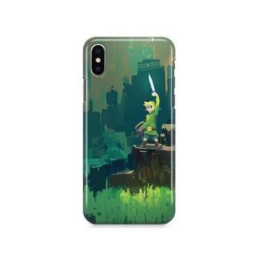 Kit Capa Case TPU iPhone X - Zelda Link Ocarina of Time Breath of The Wild + Película de Vidro (BD01)