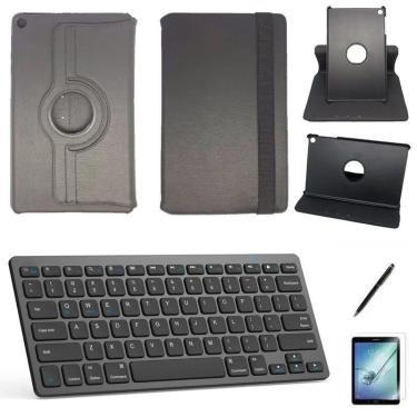 Kit Para Tablets - Capa, Caneta, Teclado E Película - Preto