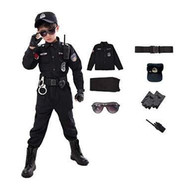 Imagem de Fantasia Traje Infantil Conjunto De Policial Halloween (140CM)