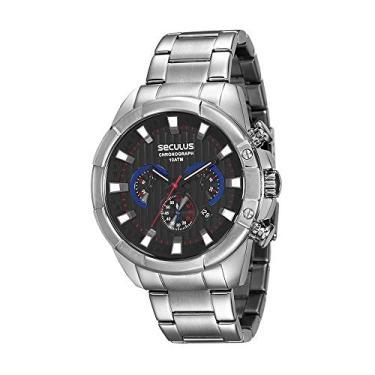 Relógio de Pulso Masculino Seculus Aço   Joalheria   Comparar preço ... 02278a249f