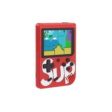 Mini Vídeo Game Portátil 400 In 1 Game Sup Jogos Internos Retro Classicos Nes GBA Sega Super Mario Cabo AV Joystick