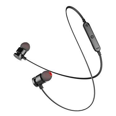 Fone de Ouvido Bluetooth Sem Fio Sport Smart Kaidi Stereo Ajustavel Confortavel com Microfone com Controle de Volume [preto] [wireless] [fone Esportivo] [fone In ear] [fone Intra Auricular]